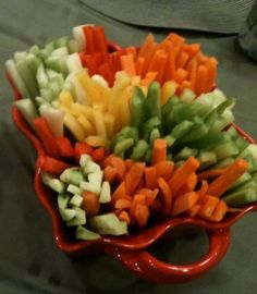 Why is it that when someone else prepares fresh vegetables they always look so much more appetizing than when I chop them myself?  Or is it...