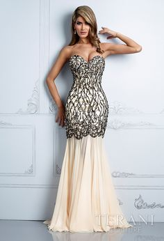M2218 Cap sleeve gown with mock sweetheart bodice and mesh chest ...