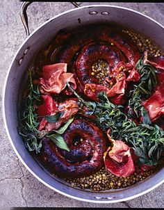 the best sausages with braised lentils & crispy prosciutto | Jamie Oliver | Food | Jamie Oliver (UK)