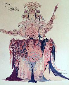 1960s Goddess of Juno Hera by Bjørn Wiinblad  by OutofCopenhagen