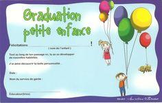 Résultats de recherche d'images pour «modele diplome pour garderie» Pre K Graduation, Kindergarten Graduation, Classroom, Education, Images, Recherche Google, Fashion, Sensory Play, Games