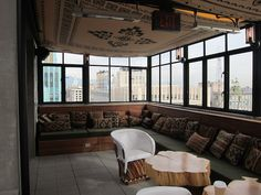The Ace Hotel - Los Angeles... THIS CHAIR ... These pillows. so good.