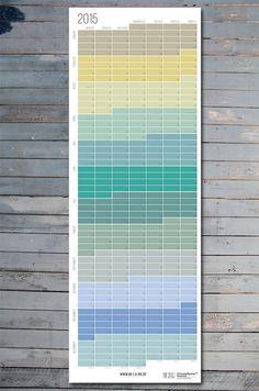 Wandkalender 2015 Planer 2015 Pastell Aqua Türkis Natur von WiLaNo Wall Planner Calendar 2015 #Etsy #Etsyfinds