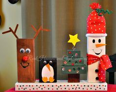 2×4 Christmas Crafts – Holiday Characters