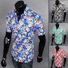 2015 summer shirt mens hawaiian shirt short sleeve casual-shirt cotton printed floral shirt high quality shirt for men MSH050