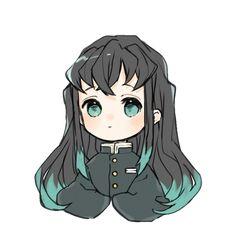 Kawaii Chibi, Cute Chibi, Kawaii Anime, Anime Demon, Manga Anime, Anime Art, Demon Slayer, Slayer Anime, Anime Girl Drawings