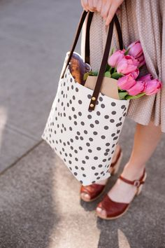 tote & clogs! I want both of them for springtime. :)