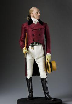 "Aaron Burr aka. ""Gamp"". A portrait in mixed media by George Stuart."
