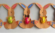 Coelhinhos Feitos com Papel e Tesoura - Blog Cantinho Alternativo