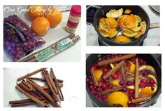 DIY Potpourri Ideas ~ Scents of the Season.Simmering Stove Top Potpourri - One Good Thing by Jillee Stove Top Potpourri, Simmering Potpourri, Potpourri Recipes, Homemade Potpourri, Christmas In Heaven, Christmas Holidays, Christmas Ideas, Christmas Scents, Xmas