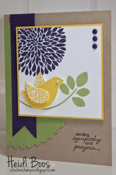 Stuck on Stampin': friday favorites - goodbye to Betsy's Blossoms - sympathy card