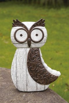 Large Resin Rustic Owl Figurine by Foreside on @HauteLook