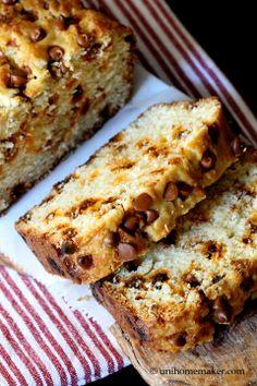 Eggnog Rum Bread with Cinnamon Chips