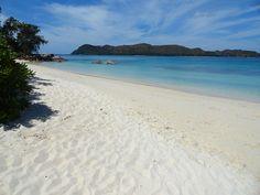 Beach at Anse Takamaka, Praslin, Seychelles