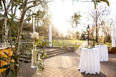 Fairy Tale Garden Wedding, outdoor cocktail hour, blush wedding. For more inspiration, visit www.fetenashville.com | Féte Nashville