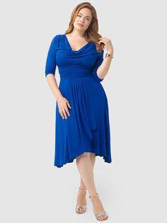 Draped In Class Dress In Royal Blue #Kiyonna