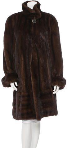 Brown and tan weasel fur coat featuring sable trim at lapels, dual seam pockets at sides and concealed button closure at front. Large Buttons, Mink, Mantel, Fur Coat, Stylish, Lapels, Jackets, Clothes, Tops