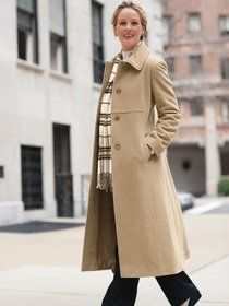 Slim Double-breasted Wool Camel Coat | pariscoming | Street ...