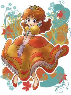 Next Project <3 (Princess Daisy Blowing Dress by ~SaladBowl on deviantART)