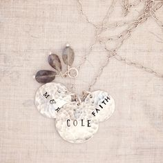 Silver Hand Stamped Jewelry