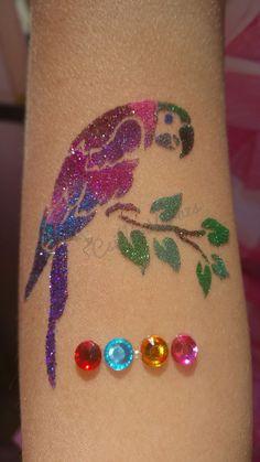 #papagáj #csillámtetoválás