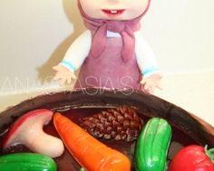Masha and the Bear cake - jam day ( den' varen'ja)