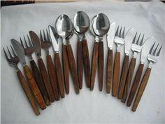 Teak cutlery