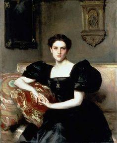 "Society portraitist John Singer Sargent posed ""Elizabeth Winthrop Chanler"" (1893), (see left) whose family was heir to John Jacob Astor fortune, ..."