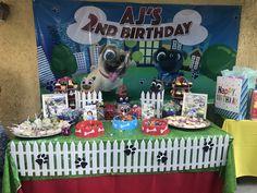 Puppy Birthday Parties, Baby Boy 1st Birthday, Puppy Party, 1st Boy Birthday, Birthday Ideas, Bingo, Disney Junior Birthday, Paw Patrol Birthday Theme, Dessert Table Birthday