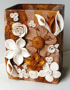 "WIP flower container | 6"" | pamela carman | Flickr"