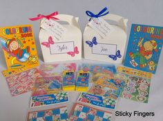 Personalised Filled Butterfly Children Wedding Activity Bag Box Favour Pack Gift