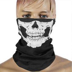 Halloween Skull Skeleton Outdoor Scarves Multi Function Bandanas Camping Headwear Hat Scarf Sport Mask For Cycling Hiking Ski Skeleton Face Mask, Skull Face Mask, Face Masks, Paintball, Bmx, Motocross, Halloween Skull, Halloween Cosplay, Halloween Spaventoso