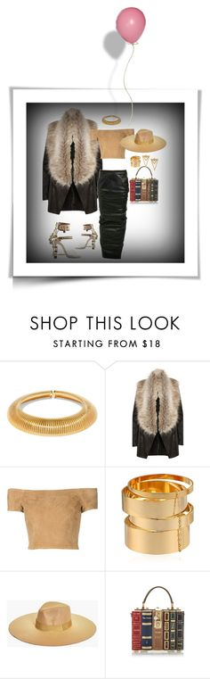 """Fur-ocious"" by foreverfreshie ❤ liked on Polyvore featuring Yves Saint Laurent, River Island, Alice + Olivia, A.V. Max, Boohoo and Dolce&Gabbana"