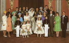 The formal wedding picture for Princess Diana and Prince Charles (Queen Elizabeth's son).