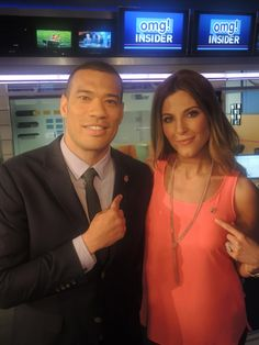 "Thea Andrews and Michael Yo of omg! Insider are wearing their support for Got Your 6 & our veterans on 6/6 ""Got Your 6 Day"" 2013"
