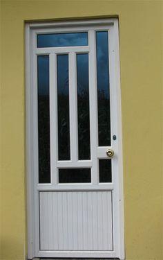 Talleres Merchan : Aluminio - Vidrio - Hierro : Ingenieria : Obras en Aluminio (fotos) Single Door Design, Wooden Main Door Design, Door Gate Design, Modern Windows And Doors, Modern Exterior Doors, Modern Door, Home Window Grill Design, Tor Design, Steel Security Doors