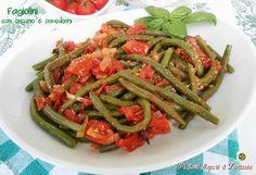 Fagiolini con origano e pomodorini Blog Profumi Sapori & Fantasia