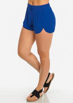 Lightweight High Waist Shorts (Royal Blue)