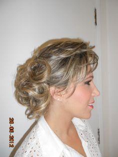 Penteado,para  madrinha de casamento