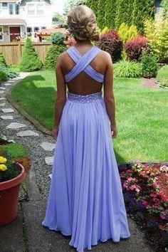 Pd426 Charming V-Neck Prom Dress,Chiffon Prom Dress,Backless A-Line Prom Dresses uk