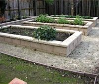 use brick and you never have to worry about wood rot -raised garden beds