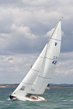 The Solent Sunbeam yacht 'Penny' racing during Aberdeen Asset Management Cowes Week #sailboats #boats #sailing