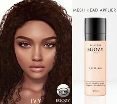 Second Life Marketplace - Egozy. Second Life Avatar, The Sims 4 Skin, Sims 4 Black Hair, Sims 4 Cc Makeup, Porcelain Skin, Play Sims, Sims Four, The Sims 4 Download, Sims 4 Game