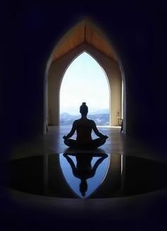 """~NAMASTE~ """"Meditation is the dissolution of thoughts in Eternal awareness or Pure consciousness without objectification, knowing without thinking, merging finitude in infinity. Yoga Meditation, Meditation Pictures, Meditation Retreat, Yoga Inspiration, Chakras, Little Buddha, Inner Peace, Mindfulness, Inspirational Quotes"""