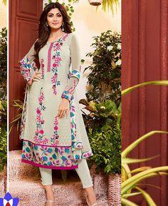 Buy Appealing Grey Straight Cut Salwar Kameez online at  https://www.a1designerwear.com/appealing-grey-straight-cut-salwar-kameez-3  Price: $36.95 USD