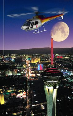 #LasVegas Strip helicopter night flight