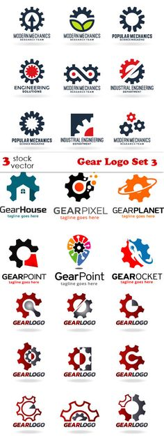 Vectors - Gear Logo Set 3