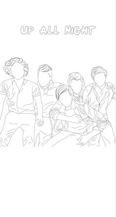 One Direction Fan Art, One Direction Drawings, One Direction Posters, One Direction Wallpaper, One Direction Humor, One Direction Pictures, Outline Drawings, Art Drawings, Colouring Pages
