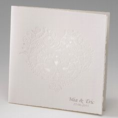"""Einladungskarte """"Alba"""" - handgeschöpfte Karte zur Hochzeit - weddix"""