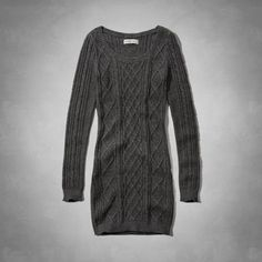 Knit from supersoft yarn, this cozy bodycon sweater dress features a diamond cable pattern and a cute scooped neckline. Slim Fit, Imported.